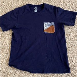 Uniqlo Hokusai blue limited edition t